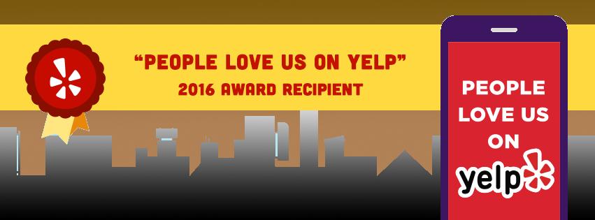 2016 People Love Us on Yelp Award Recipient